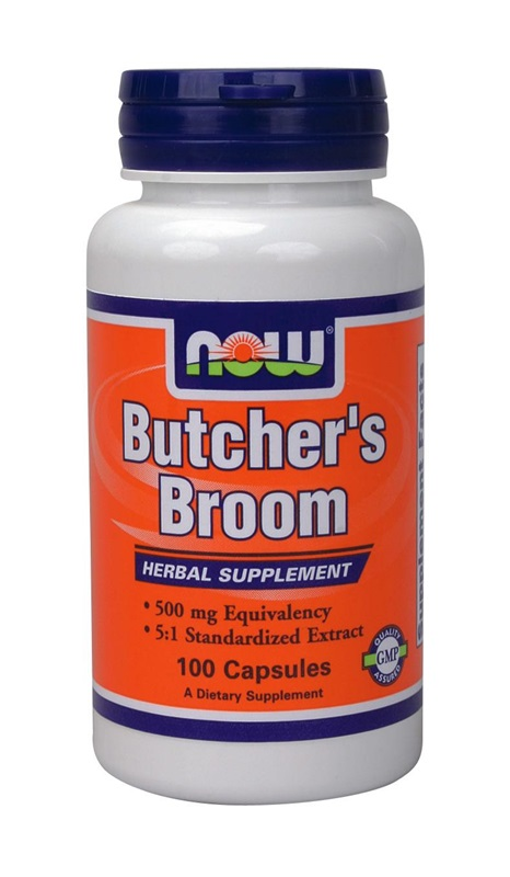 NOW FOODS BUTCHERS BROOM 500MG CAPS 100S (4615)