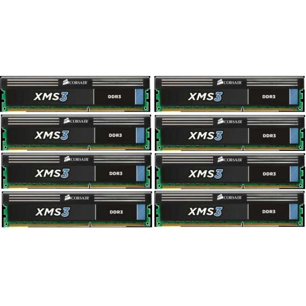 Corsair XMS3 64GB (8x8) DDR3-1333