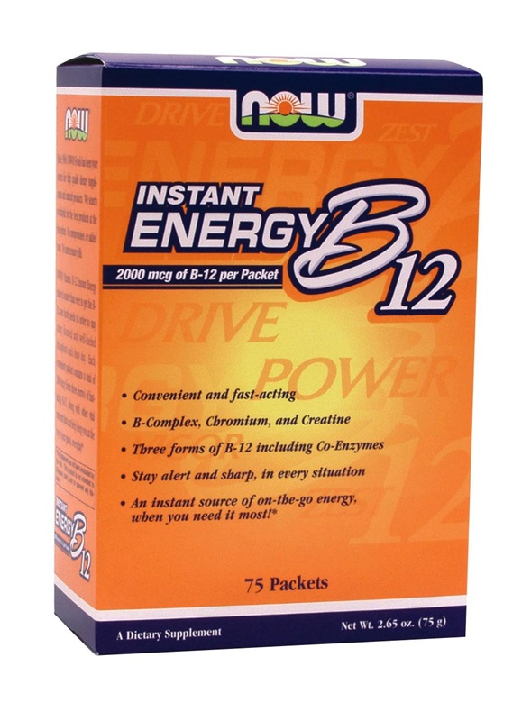 NOW FOODS INSTANT ENERGY B-12 PACKETS 75S (0497)