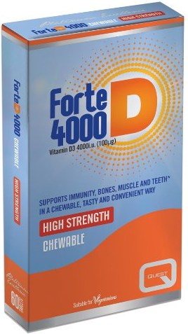 QUEST FORTE D 4000 VITAMIN D3 100MG CHEW. TABS 60S