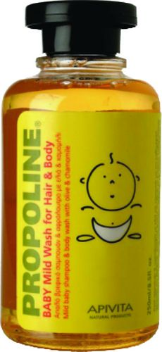 APIVITA PROPOLINE BABY MILD WASH FOR HAIR και BODY 250ML (10-10-75-010)