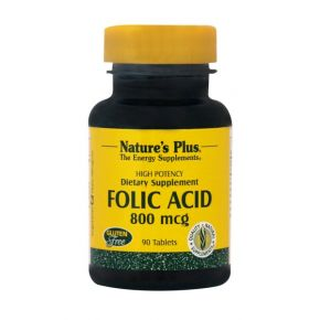 NATURES PLUS FOLIC ACID 800MCG TABS 90S (1790)