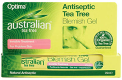 OPTIMA HEALTH TEA TREE ANTISEPTIC BLEMISH GEL 25ML