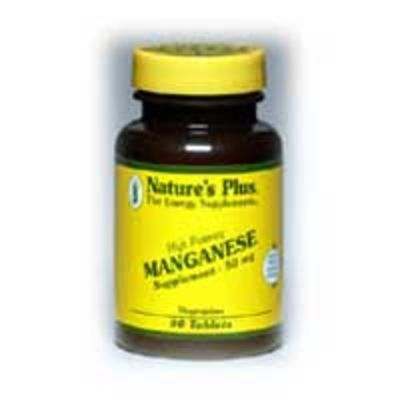 NATURES PLUS MANGANESE 50MG TABS 90S (3450)