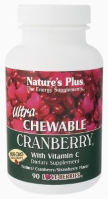 NATURES PLUS ULTRA CHEWABLE CRANBERRY TABS 90S (3956)