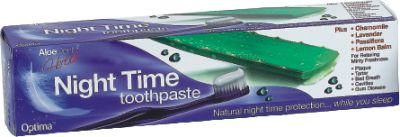 OPTIMA HEALTH ALOE DENT NIGHT TIME TOOTHPASTE 100ML