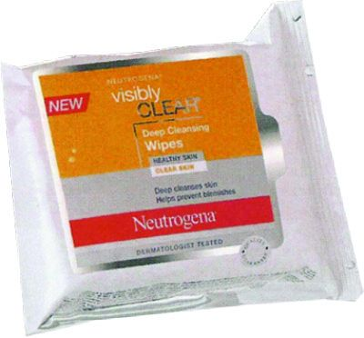 NEUTROGENA VISIBLY CLEAR 8 HOUR RAPID CLEAR WIPES 25ΤΕΜ