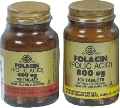 SOLGAR FOLIC ACID 400MG TABS 100S
