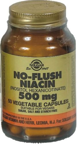 SOLGAR NO FLUSH NIACIN 500MG VEG.CAPS 50S