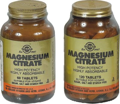 SOLGAR CITRATE MAGNESIUM 200MG TABS 60S