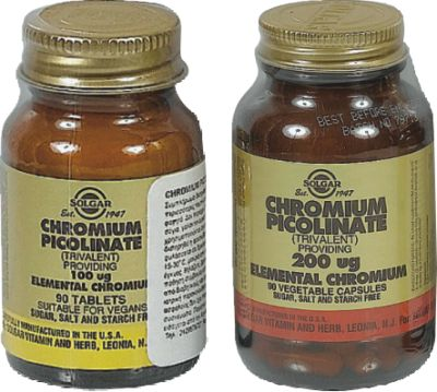 SOLGAR CHROMIUM PICOLINATE 200MG  VEG.CAPS 90S