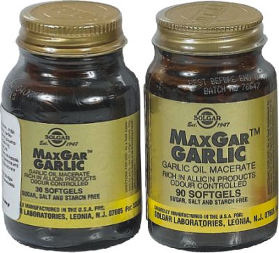 SOLGAR MAX GAR GARLIC 280MG SOFTGELS 30S